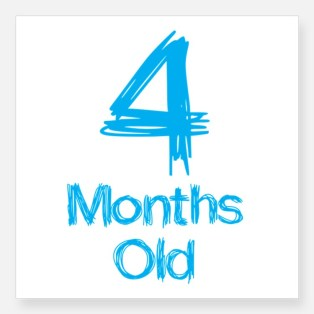 4_months_old_baby_milestones_sticker